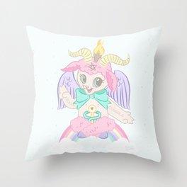 Born Again Satanist Throw Pillow