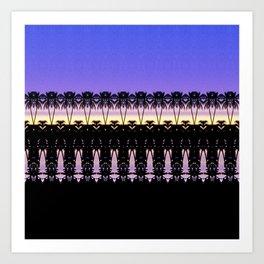 Sunset in Indonesia Art Print