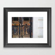 Neoclassical door Framed Art Print