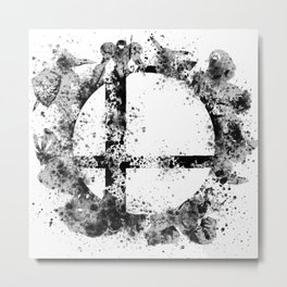 Super Smash Bros Ink Splatter Metal Print