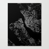 liverpool Canvas Prints featuring Liverpool by Line Line Lines