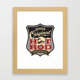 Clutchhotrods Shield Framed Art Print