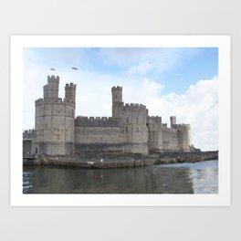 Caernarfon castle. Art Print