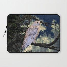 Snowy Owl Bird Stormy Sky A127 Laptop Sleeve
