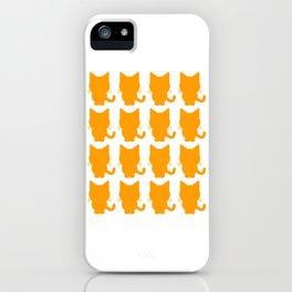 (tshirt) Black Neko Cat Cute (color fill) iPhone Case