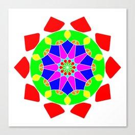 Mandala in vibrant colors Canvas Print