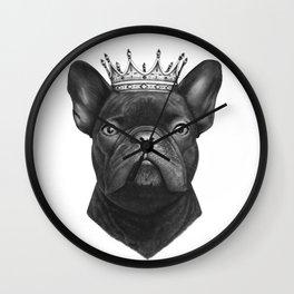 King french bulldog Wall Clock
