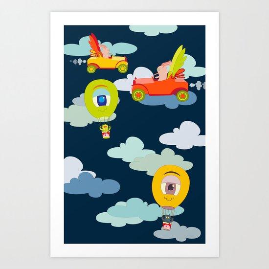 Flying High  Art Print