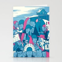 eternal sunshine of the spotless mind Stationery Cards featuring Eternal Sunshine of the Spotless Mind by Ale Giorgini