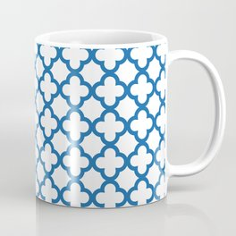 Quatrefoil_Blue Coffee Mug