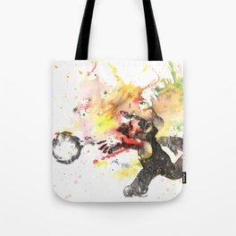 Mario Throwing Fireball Tote Bag
