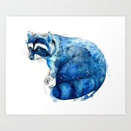 Starry Raccon Art Print