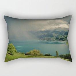 arising storm over lake lucerne Rectangular Pillow