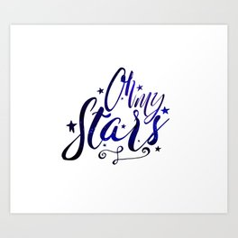 Oh My Stars | Inverse Art Print