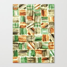 Pop Style Multicoloured Geometric Patterns Watercolor Canvas Print
