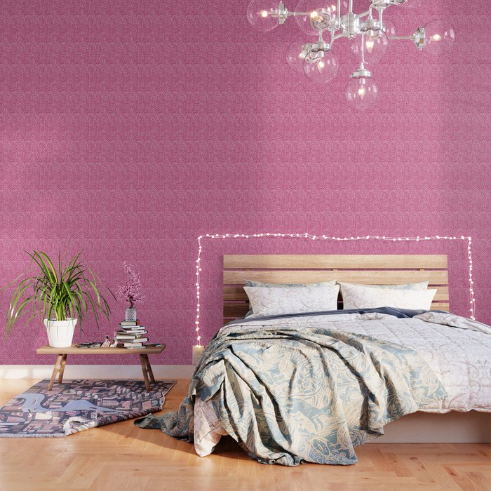 Hand Knit Hot Pink Wallpaper by projectm