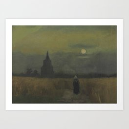 Vincent van Gogh - The Old Tower at Dusk Art Print
