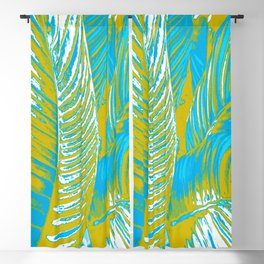 Colorful Leaves Lovely Turquoise #society6 #decor Blackout Curtain