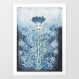 Flower lady Art Print