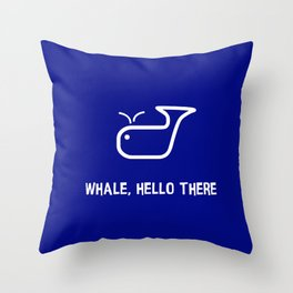 Whale Hello Throw Pillow