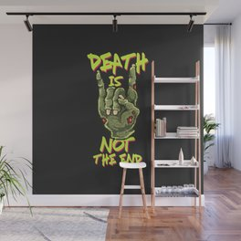 Pixels sign of the horns creepy heavy metal hand Wall Mural