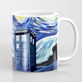 tardis staryy night  Flower Coffee Mug