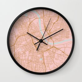 Nashville map, Tennessee Wall Clock