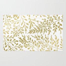 Gold Leaves Rug