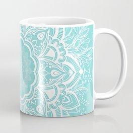 mandala bohemian embellishments floral medallion turquoise Coffee Mug