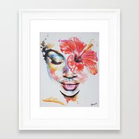 hibiscus Framed Art Prints featuring Hibiscus by Maria Lozano - Art