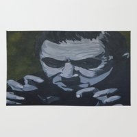 dracula Area & Throw Rugs featuring Dracula by Paintings That Pop