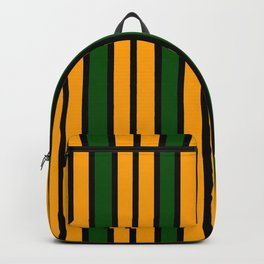 Green & Gold Stripes Backpack