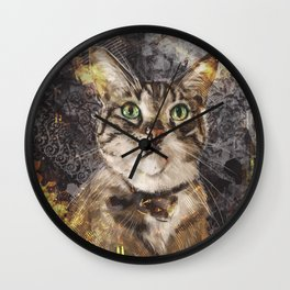Brian The Cat  Wall Clock