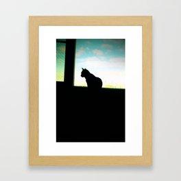 Cat Noir Framed Art Print