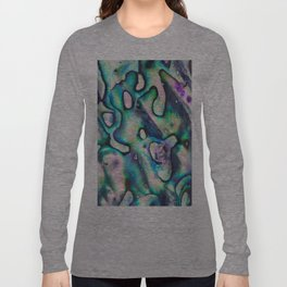 Purpley Green Mother of Pearl Abalone Shell Long Sleeve T-shirt
