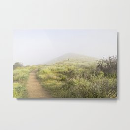 The Foggy Trail Metal Print