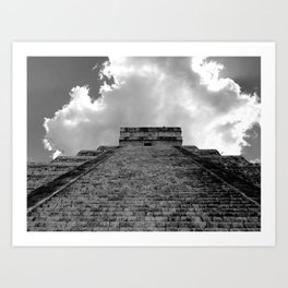 Chichen Itza Cloud Crown Art Print