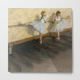 Edgar Degas - Dancers Practicing at the Barre Metal Print