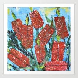 Rustic Bottle Brush Art Print