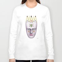 skulls Long Sleeve T-shirts featuring Skulls by Lou Patrou