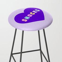 Love Snacks in Lilac Bar Stool