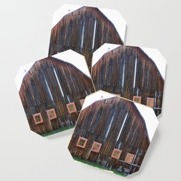 Rustic Old Country Barn Coaster