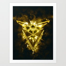 Team Instinct - Zapdos Art Print