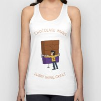 chocolate Tank Tops featuring Chocolate! by Wackom