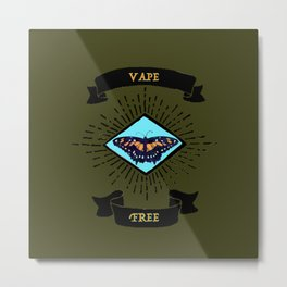 vape free Metal Print