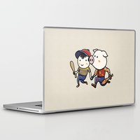 earthbound Laptop & iPad Skins featuring Mother Miami by Jarvis Glasses