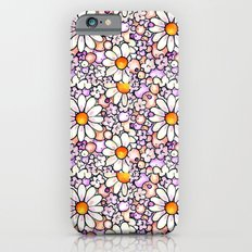 Large Blush Daisies Tiled iPhone 6s Slim Case
