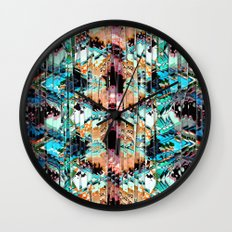 Colorful Abstract In Shreds Wall Clock