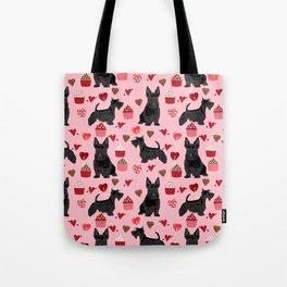 Scottie scottish terrier valentines day dog love pet portrait cute puppy dog valentine Tote Bag