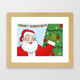 Santa Framed Art Print